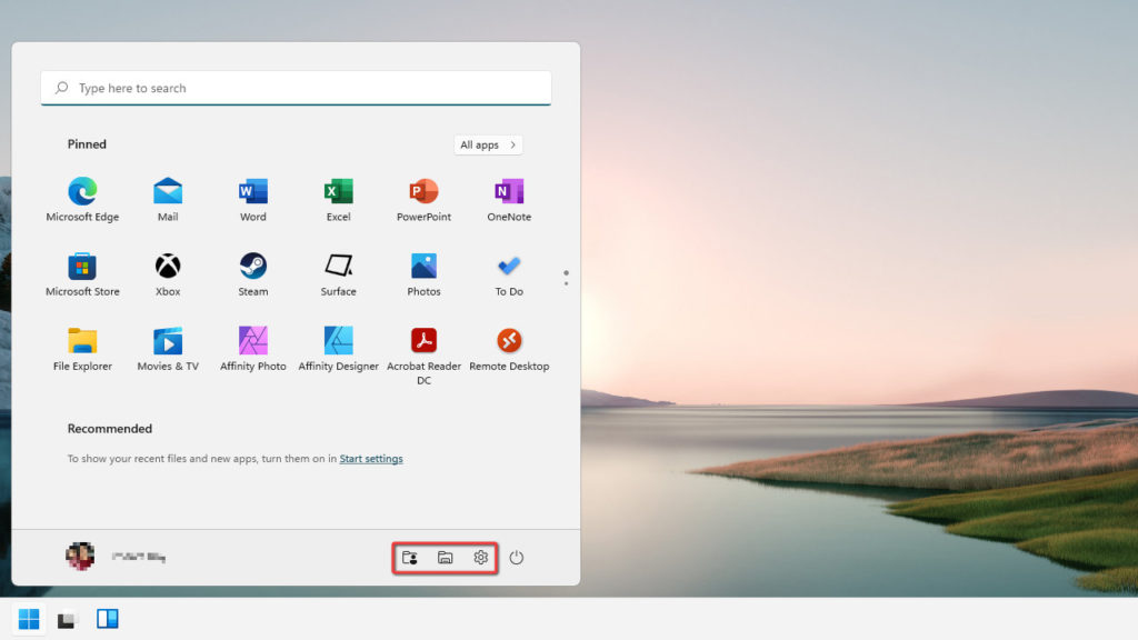 How to Show Folders on Start Next to The Power Button on Windows 11