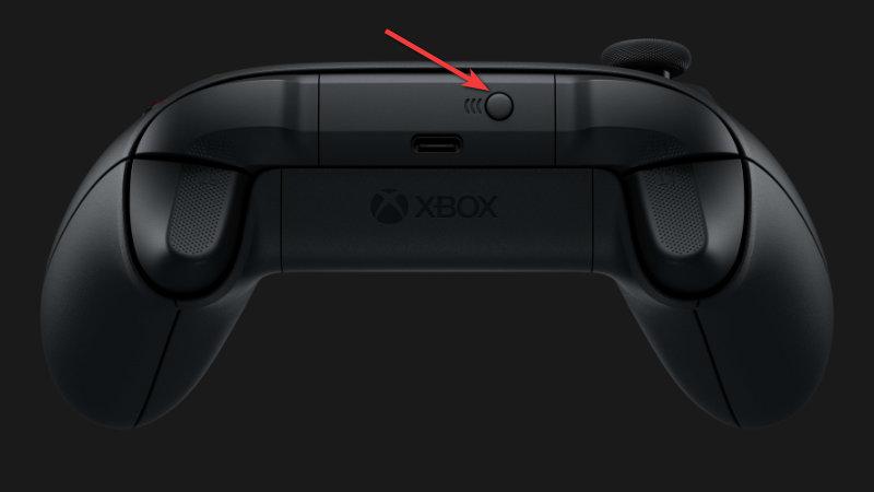 Connect button on Xbox controller