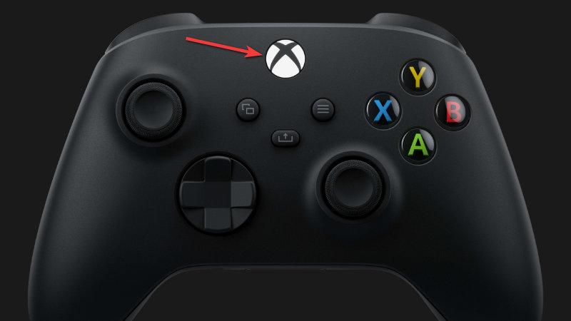Xbox button on Xbox Controller
