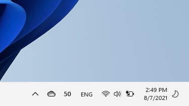 Taskbar in Light Mode