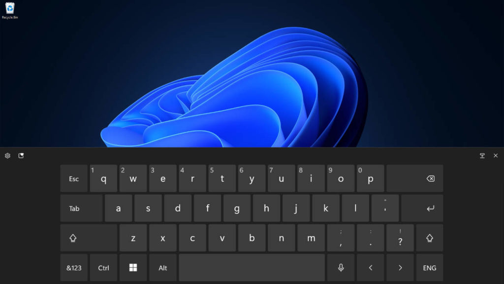 Full Touch Keyboard on Windows 11