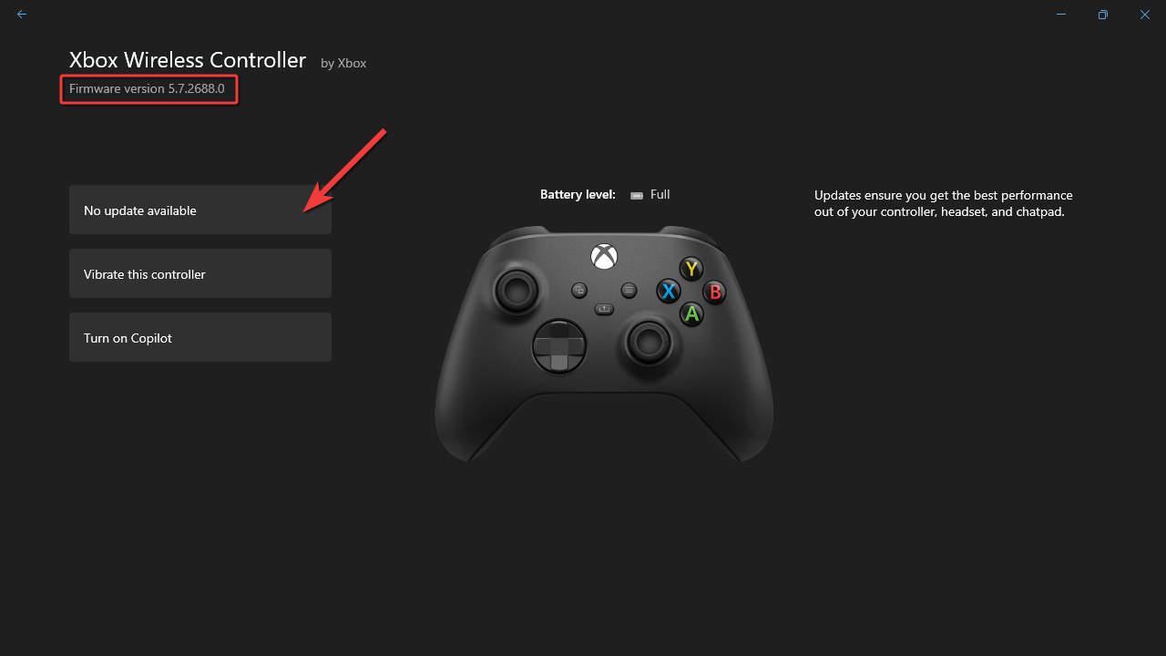 Xbox Accessories - Firmware Version
